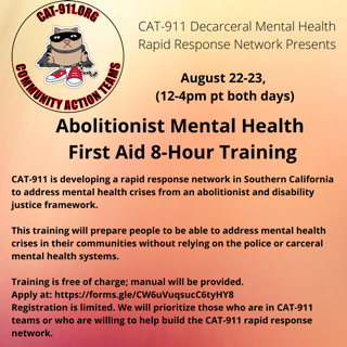 Abolitionist Mental Health - First Aid 8-hour Training