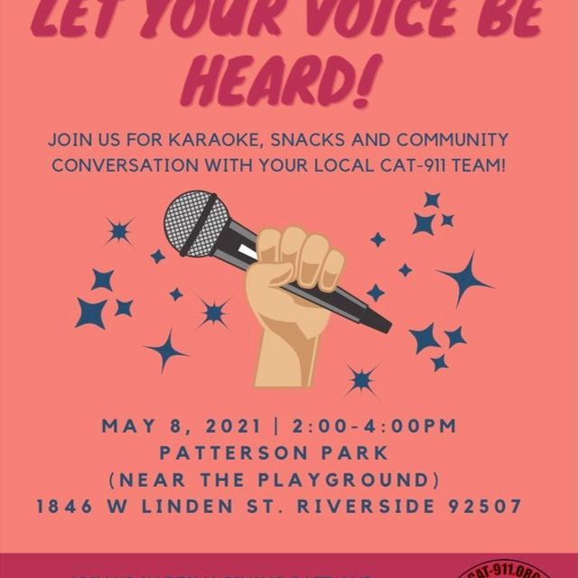 May 8 - CAT 911 Riverside: Let Your Voice be Heard!