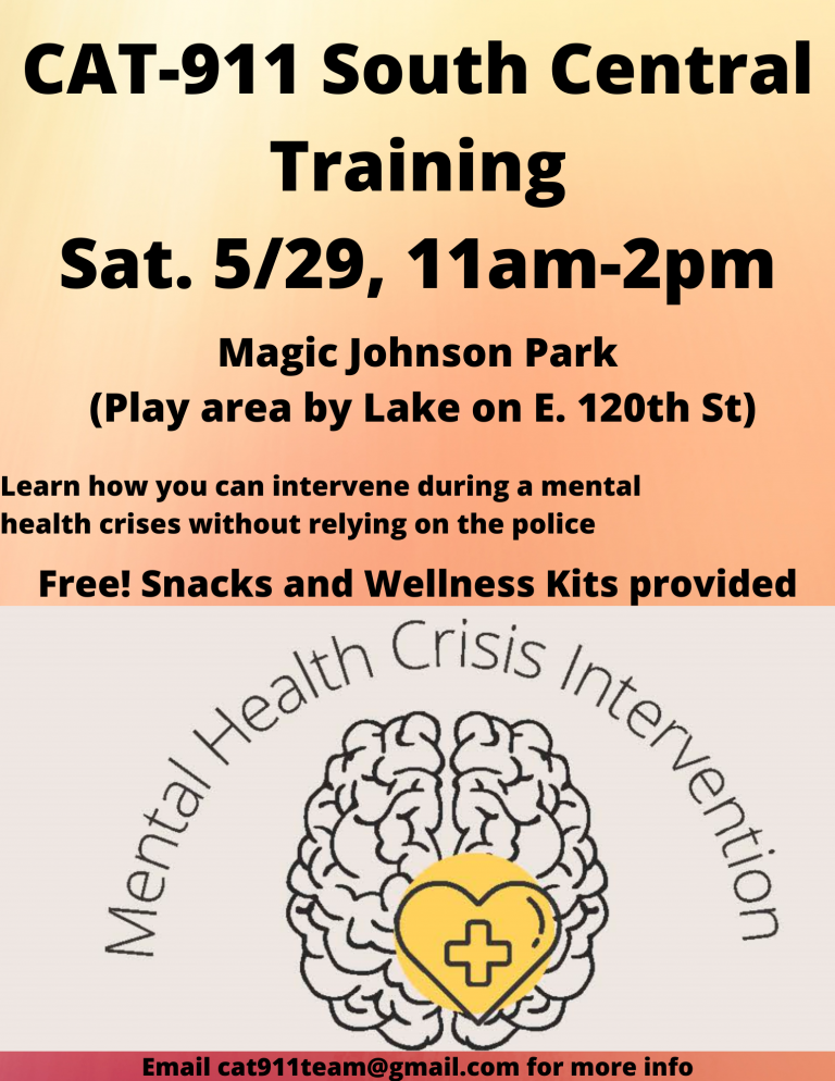 May 29 - CAT 911 South Central: Mental Health Crisis Intervention